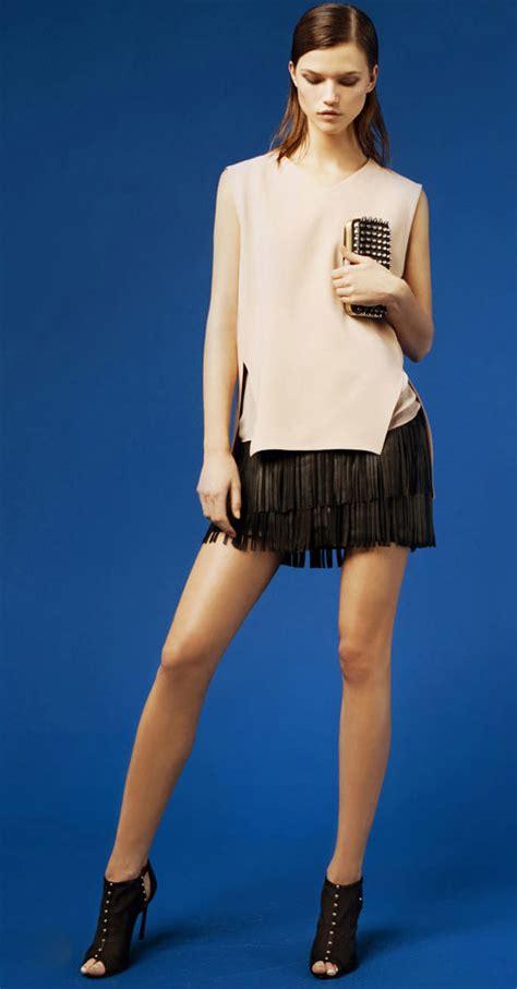 skirt fringed leather mini skirt from zara stylefrizz