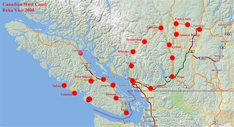 map of canada west coast canadian west coast southern bc map flickr photo