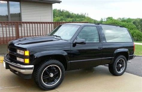 how to work on cars 1995 chevrolet k5 blazer electronic valve timing find used 94 k5 chevy blazer 87k miles no rust custom wheels hood interior in sparta