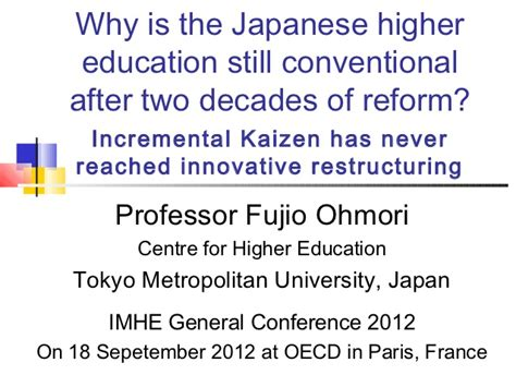 Higher Education In Usa After Mba by Why Is The Japanese Higher Education Still Conventional