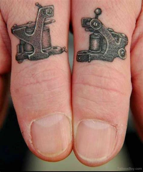 tattooed fingernails finger