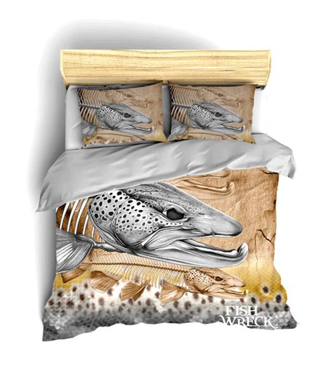 boat bed sets brown trout bed sets fishwreck fishing apparel and