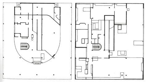 villa savoye floor plans plans villa savoye le corbusier plan drawings