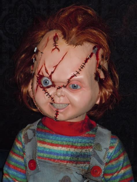 movie with chucky doll chucky animatronic puppet from child s play on display