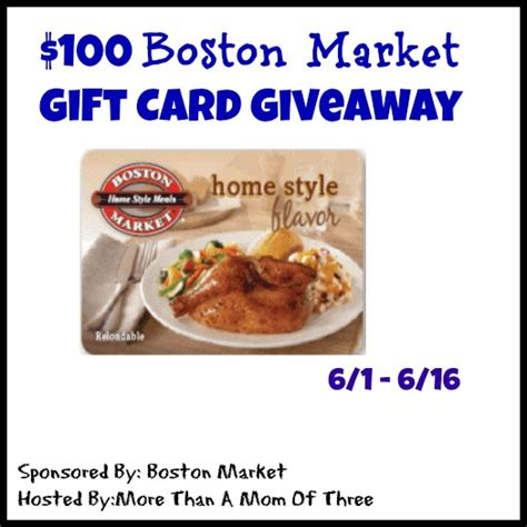 Boston Market Gift Card - celebrate national rotisserie chicken day with boston market 100 boston market gift