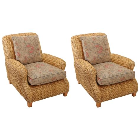 seagrass chairs pair of ralph seagrass club chairs at 1stdibs