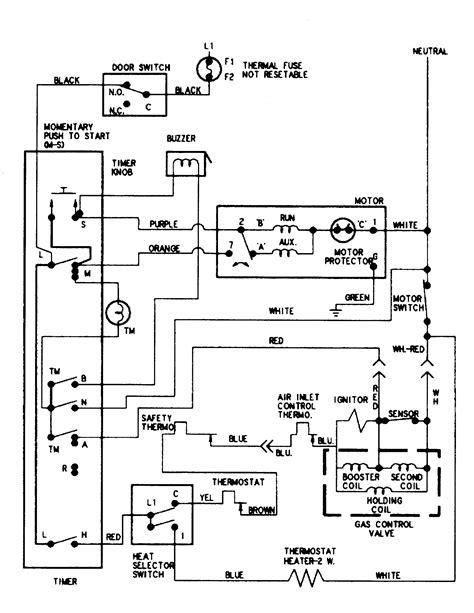 dryer wiring diagram schematic get free image about