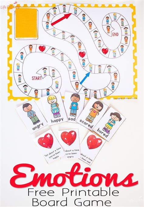 printable board games for kindergarten free printable emotions board game free printable sad