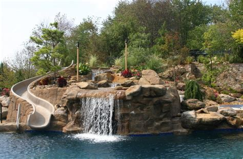 swimming pools with rock waterfalls pictures pixelmari com swimming pools with slides and waterfalls creativity