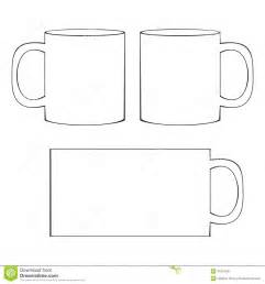 Cup Template by Coffee Mug Template Blank Cup Stock Vector Image 41067041