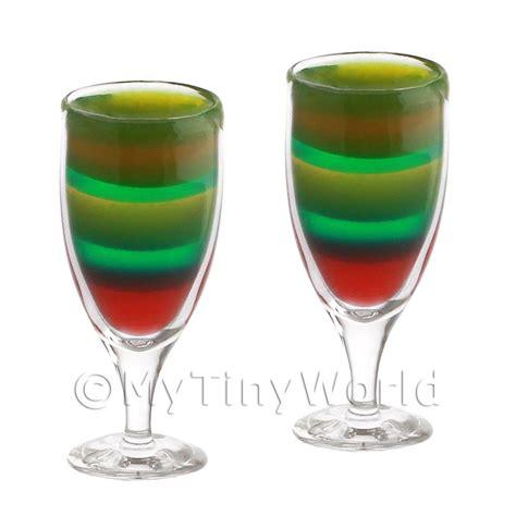 Handmade Glassware Uk - dolls house miniature glassware 2 miniature rainbow