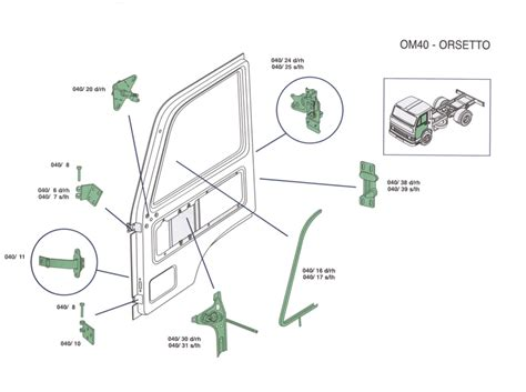 cabina om 40 vendita ricambi om40 orsetto iveco emporio carrozziere