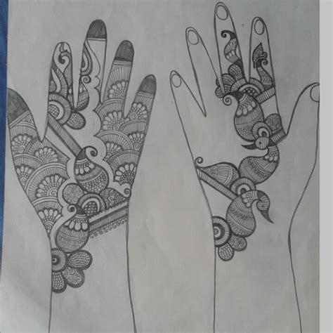 henna design sketches pencil sketch of mehndi designs crafts and cooking