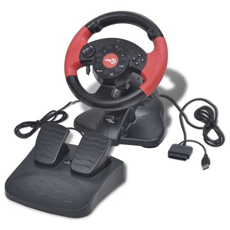 volante pc volante de carreras gaming para ps2 ps3 pc rojo tienda