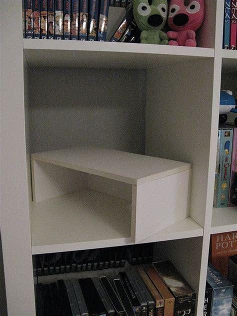 diy shelf risers for expedit crafty goodness