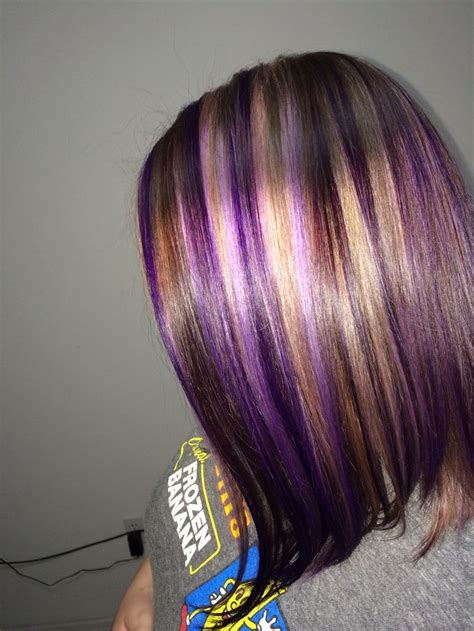hair color pictures blonde purple lowlights 23 best new chunky highlights images on pinterest hair