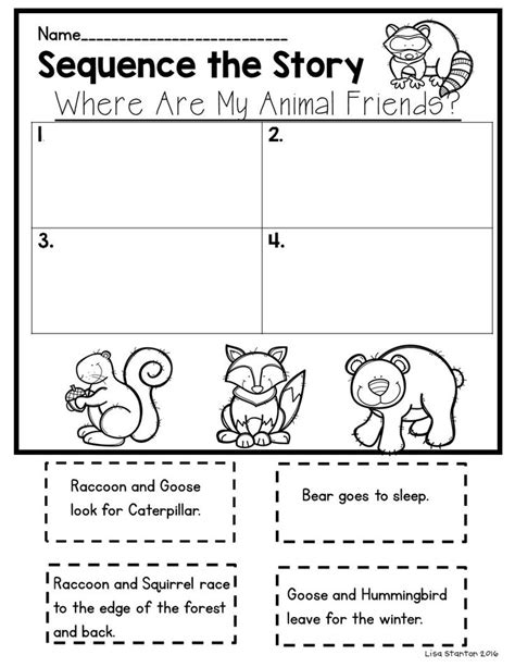 printable sequencing games free sequencing activity for the story quot where are my