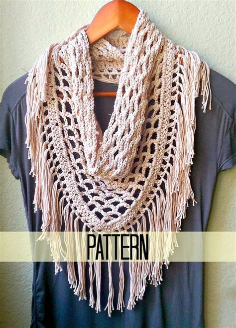 fringe pattern triangle scarf crochet scarf patterns and fringe scarf on