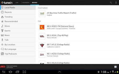 tunein radio apk android apps apk tunein radio 8 0 apk for android