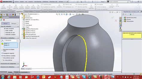 solidworks tutorial indent tutorial de solidworks superficies 3d design surface youtube