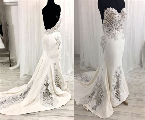 17769 Lace Low Back low back wedding dress lace wedding dress strapless wedding