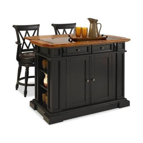 bar top finish home depot home styles deluxe traditions island two bar stools