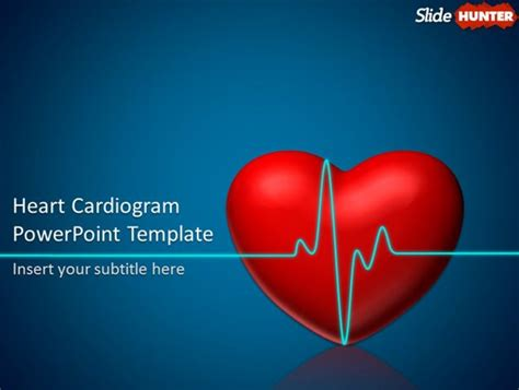 Free Animated Powerpoint Template With Heart Cardiogram Animation With Regard To Microsoft Microsoft Powerpoint Animated Templates