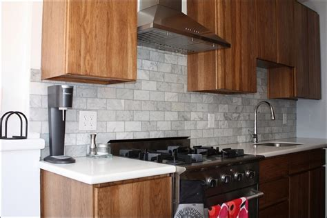 stick on kitchen backsplash kitchen stacked stone backsplash home depot peel and stick