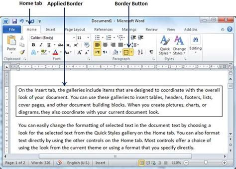tutorialspoint ms word how to change color of page border in word 2016 coloring