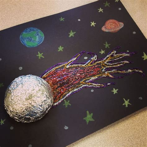 space crafts for to make comet craft use black construction paper