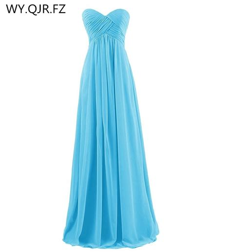 lly tl the new 2019 autumn winter navy strapless sky blue pink bridesmaids dresses wedding