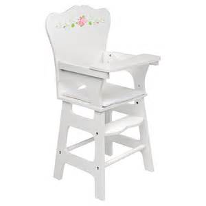 badger basket white rose doll high chair baby doll furniture at hayneedle