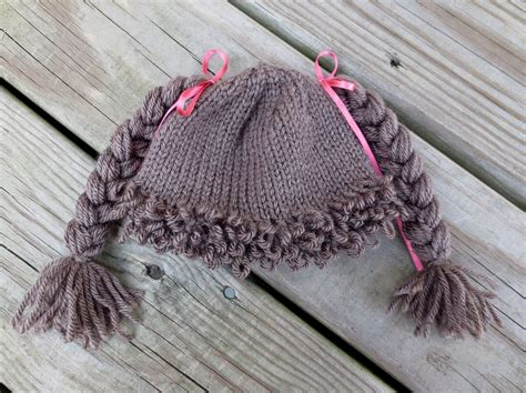 cabbagepatchknitted hat pattern these cabbage patch kids inspired hats are so ridiculously
