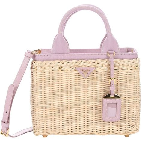 Canvas And Wicker B Fendi Bag by Prada Wicker And Canvas Convertible Tote