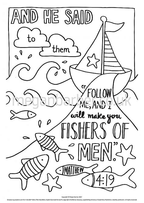Coloring Page Matthew 22 by Matthew 4 19 Coloring Page Images