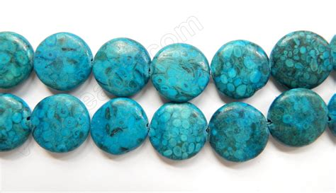 Gelang Blue Coral 16 Mm yellow fossil coral jasper