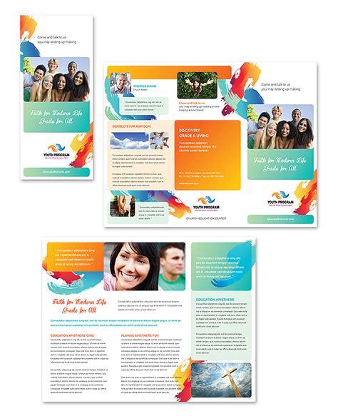 Church Youth Ministry Tri Fold Brochure Template Ministry Brochure Template