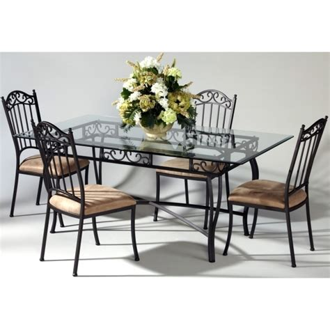 Wrought Iron Dining Room Furniture Wrought Iron Kitchen Chairs Chic Small Dining Room Design With Glass Table Photo 58
