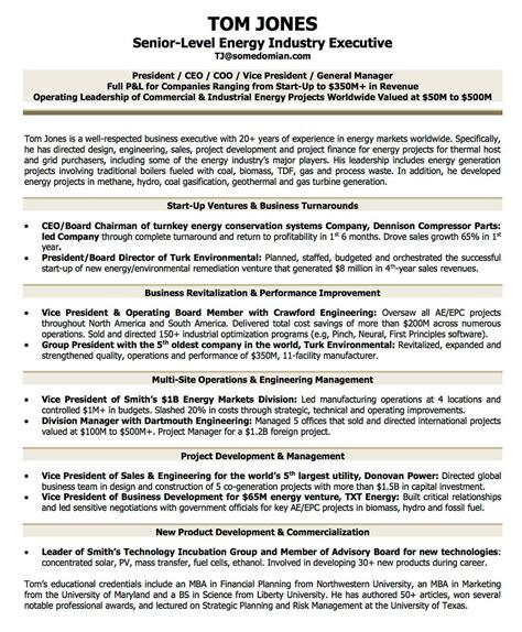coo biography exle resume exles cv sle resume templates rso resumes