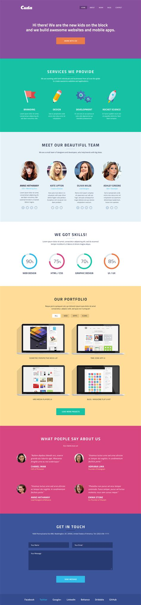 25 Trendy New Landing Page Single Page Website App Psd Templates For Free Download 365 Web Single Page Website Template Free