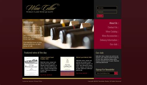 Wine Magento Template Templates Master Free Wine Website Templates