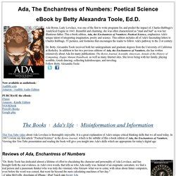 enchantress of numbers a novel of ada read milakelm pearltrees