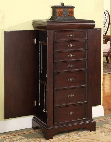 large free standing jewelry armoire large locking jewelry armoire espresso finish