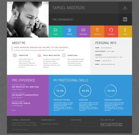 20 best wordpress resume themes for your personal website 20 best wordpress resumes vcard themes for your online cv