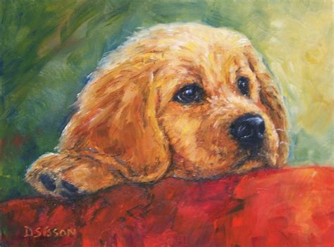 puppy painting daily painting projects golden puppy