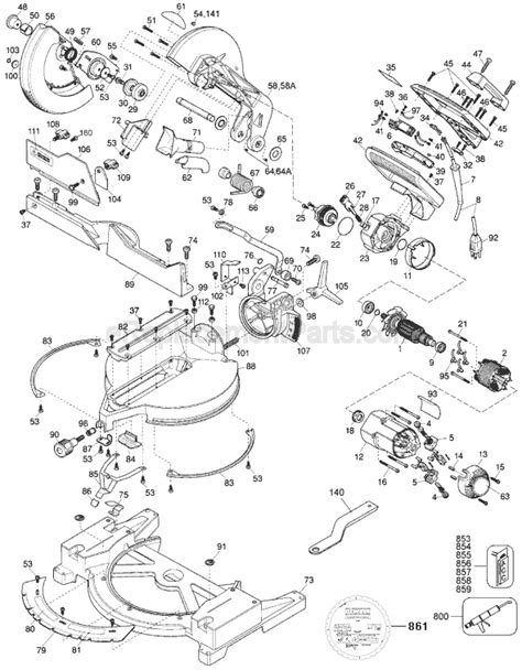 Dewalt Dw705 Parts List And Diagram Type 1