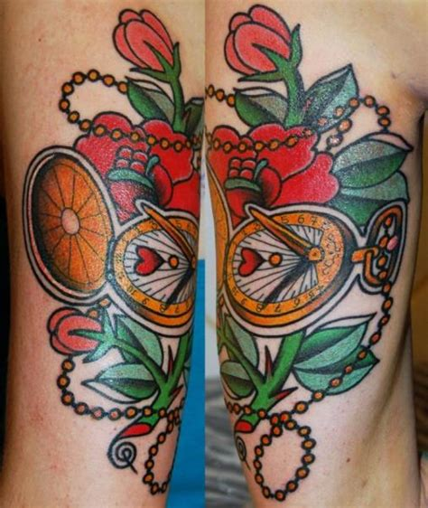 tattoo flower old school clock old school flower tattoo by stademonia tattoo
