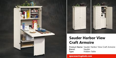 sauder craft armoire harbor view collection sauder harbor view craft armoire space saving desk