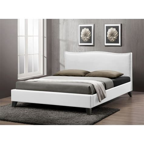 white full size beds battersby white modern bed with upholstered headboard