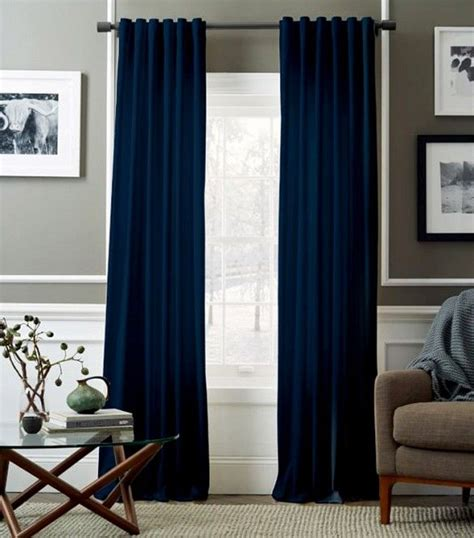 navy blue velvet curtains cool weather classic velvet decor
